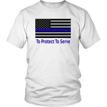Thin Blue Line PoliceMan PoliceWoman Police Academy Graduation Shirt Law Enforce - $23.99