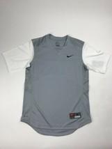 Nike Turn Two Fast Pitch SS Jersey Grey White Dri-Fit Women's Medium 578... - $25.73