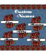 Pick up to 6 Custom Flower Split Monogram Names 00smp-Digital Clipart-Gi... - $4.99