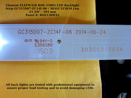 Element/Proscan/Seiki/Westinghouse 303GC315034 Replacement LED Backlight Strip - $11.00