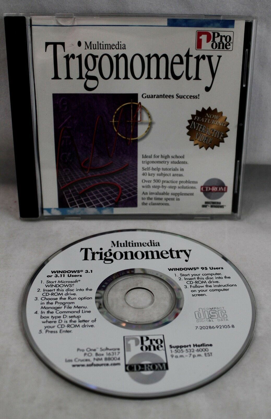 Primary image for Multimedia Trigonometry CDROM Win95 and 3.1, Pro One Software