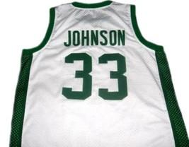 Magic Johnson #33 Michigan State Custom Basketball Jersey White Any Size image 5