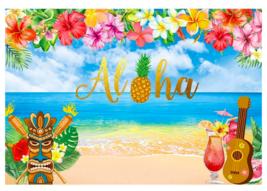 Tropical Hawaiian party Backdrop 7x5ft Summer Luau Party summer aloha party - £20.52 GBP