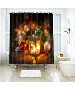 3D Weihnachten Xmas 12 Duschvorhang Wasserdicht Faser Bad Daheim Windows DE - $63.52+