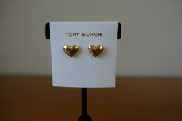 Tory Burch Heart Stud Gold Color Earrings. New - $45.99