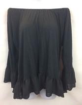 Sanctuary Clothing Womens Black Off Shoulder 3/4 Sleeve Top M - €30,28 EUR