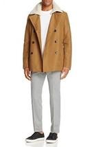 New $595 Men's Michael Kors Vicuna Luxe Sueded Peacoat Coat Jacket Size ... - $159.47