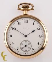 Elgin Grado 382 Oro Lleno Reloj De Bolsillo 17 Joya tamaño 16s Año - $309.85