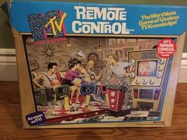 1989 Pressman MTV Remote Control Trivia Board Game Music TV COMPLETE! Vi... - $20.29
