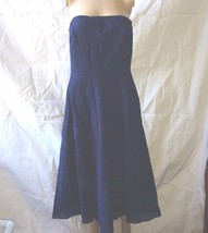 J. Crew  cotton  strapless Style 81972 Blue navy size 6 Worn once - $23.16