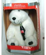"1993 Coca Cola Plush Collection 12"" White Bear w/ Bottle Soda Play by Pl... - $19.78"