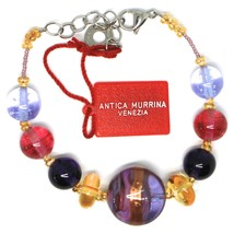 Bracelet Antica Murrina Venezia, Murano Glass, Disco Brindle Purple BR578A05 image 2