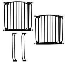 Dreambaby Chelsea Auto Close Security Gate in Black Value Pack (Includes 2 Gates