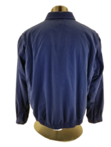 Vintage Polo Ralph Lauren Blue Full Zip Harrington Jacket Flip Collar Mens XXL - $38.43