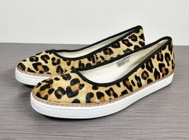 UGG Australia Kammi Genuine Calf Hair Flat, Leopard Print, Womens Size 8 US / 39 - $43.23