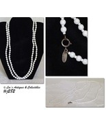 """Vintage Miriam Haskell 60"""" Long End to End White Bead Necklace (Inventor... - $190.00"""