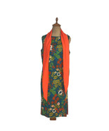 Vintage 1970s Meena Of California Women's Dress Floral Button Sides W Sc... - $17.72