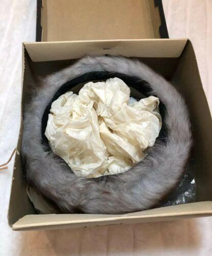 Dayton's Schuneman Vintage Fur Hat With Box Gray Circle