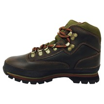 TIMBERLAND WOMEN'S BROWN LEATHER ANKLE EURO HIKER HIKING TRAIL BOOTS SHO... - £54.69 GBP