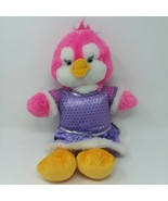 "Build A Bear Pink Penguin Soft Plush Stuffed Doll 12"" with Purple Dress ... - $16.79"