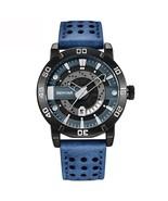 Benyar Men's Leather Analog Quartz Wrist Watch BY-5150M (Blue) - $40.00