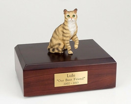 Tabby Brown Shorthair Cat Figurine Pet Cremation Urn Avail 3 Dif Colors/... - $169.99+