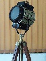 "Antique Urban Design Nautical Spotlight Hollywood Floor Lamp Wooden Tripod 70"" - $187.11"