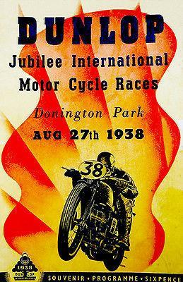 Primary image for 1938 Dunlap Jubilee International Motorcycle Race - Program Poster