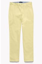 New Mens Tommy Hilfiger Custom Fit Flat Front Sand Khaki Chino Pants 36 X 30 - $31.67