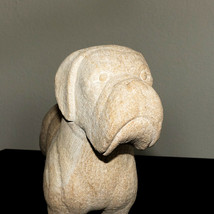 STUNNING SANDSTONE ANIMAL CARVING STANDING BOXER GRUMPY DOG FIGURINE STATUE - $130.00