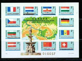 HUNGARY 1977 IMPERF BLK 128B S/S EUROPA  MNH SHIPS FLAGS S11731-A1 - $74.25