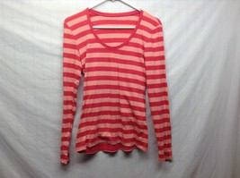 OLD NAVY Pink/Salmon Horizontally Striped Long Sleeve Pullover Sz M