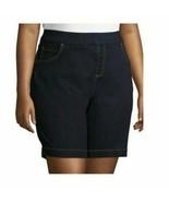 Terra And Sky Women's Plus Pull On 2 Pocket Denim Shorts 5X (32-34W) Dar... - $18.80