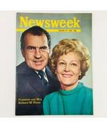 Newsweek Magazine January 27 1969 Richard Nixon and Pat Nixon No Label - $23.75