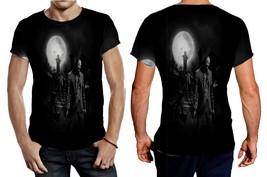 Zombie in the dark HD Wallpaper Tee Men - $21.80