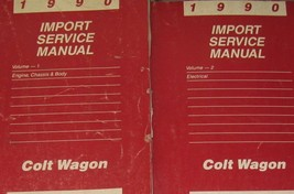 1990 Dodge COLT WAGON Shop Repair Service Workshop Manual SET OEM Factor... - $9.89