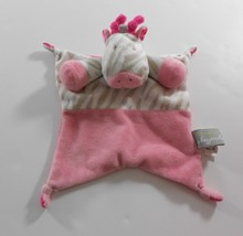 Blankets and Beyond Pink Giraffe Lovey Baby Security Blanket Knotted Cor... - $14.85