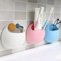 Toothbrush Sucker Holder Built in Detachable Compartment Bathroom Organi... - $9.99