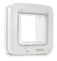 SureFlap Cat Flap with Microchip Identification, White, 21 x 21 cm - $71.20