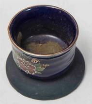Vintage Peint Céramique Bougie Socle Chandelier Support Tob - $24.67