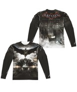 Batman Arkham Knight Poster Allover 2 Side Sublimation Long Sleeve T-shi... - £33.90 GBP+