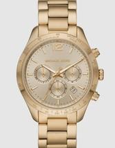 Michael Kors Women's Watch Ladies Golden Steel Bracelet Chronograph MK6795 - $232.00