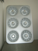 Aluminum 6 Cavity Bundt Lette Cake Pan - $17.17