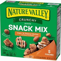 Nature Valley Crunchy Granola Snack Mix Oats 'N Peanut Butter, 5 Count