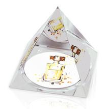 "Watercolor Perfume Painting 2"" Crystal Pyramid Paperweight - $15.99"