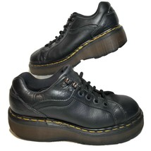 Dr Martens Womens 5 Low Top Shoes Black Leather Oxford Air Wair 0861 Eng... - $56.39