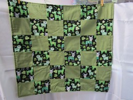 "New Small Quilt Handmade Blanket for Dog Baby or Lap Pad - 24"" x 26"" Dog... - $24.74"