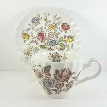 Johnson Bros Staffordshire Bouquet Cup and Saucer - $7.14