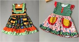 NEW Boutique Baby Girls Carousel Horse ABC Alphabet Sleeveless Ruffle Dress - $16.99