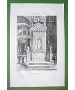 ITALY Venice Chapel in Basilica of St. Mark's - SUPERB Litho Antique Print - $30.60